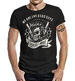 Gasoline Bandit Biker Rockabilly T-Shirt: We Are The Good Guys-M