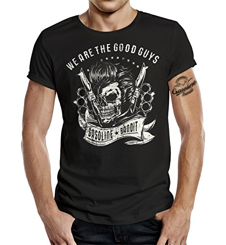 Gasoline Bandit® Biker Racer Rockabilly T-Shirt: We Are The Good Guys
