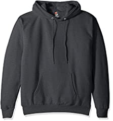 Made with a portion of recycled polyester Patented low-pill fabric Cozy hood with dyed-to-match draw cord All the comfort of Hanes with our famous tag-free label