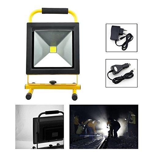 HG® 30W Batería LED Blanco Fría Faros de trabajo Iluminación del sitio Luces de mano Farolas de camping Lámparas exteriores recargables