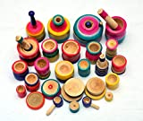 Lille-EBUY Eco Friendly Wooden Rural Kitchen Toy Set for Kids, Multi-Colour, Pack of
