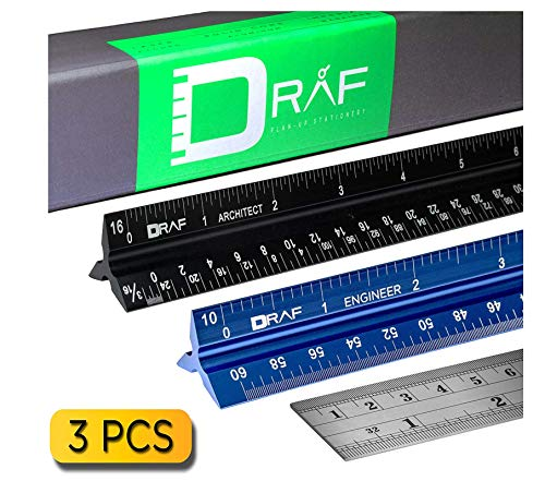 12-Inch Architectural and Engineering Scale Ruler Set (Imperial) |...