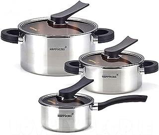 Happycall 3-ply Stainless Cookware 6pcs Kitchen Pot Set Sockpot