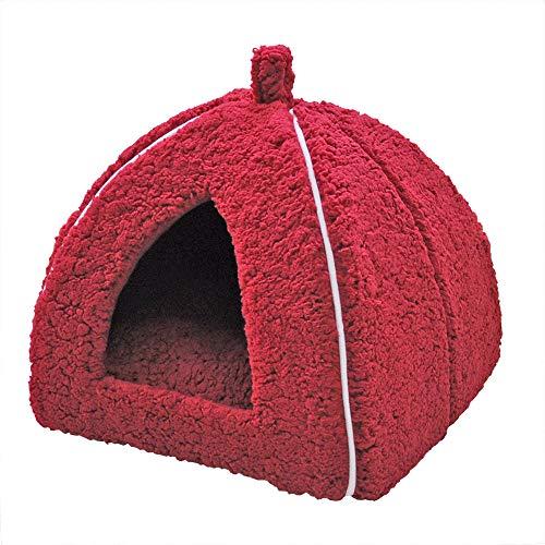 「プチリュバン」ブランドのペットベッド ペットハウス M アイボリー (ワンちゃん、イヌ、犬、ドッグ、ネ...