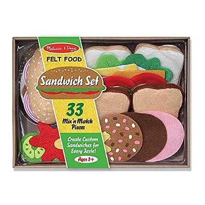 Melissa & Doug Felt Play Food - Sandwich Set by
