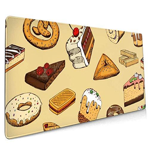 Süßigkeiten Kuchen Große Gaming Mauspad, rutschfeste Gummibasis Mausmatte