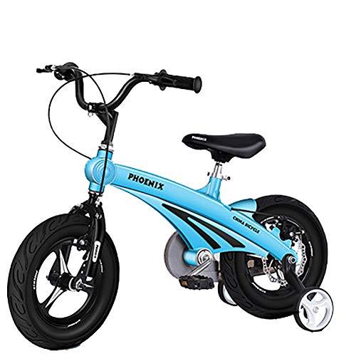 Kids Balance Bike voor 2-8 Jaar oud, met Geen Pedaal Verstelbare Stoel & Stuur, Magnesium legering frame geïntegreerd wiel met Training Wielen & Hand Bare: 12