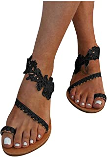 UULIKE Sandales Plates Chaussons Paillettes Tongs Strass Pantoufles Plage Femme Ete Chaussons Rome Flip Flop Sexy Slippers...