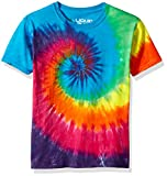 Liquid Blue unisex child Rainbow Spiral Short Sleeve T-shirt T Shirt, Tie/Dye, Large US