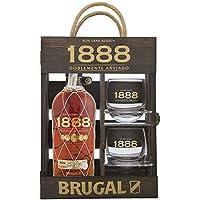 Brugal 1888 Ron Premium 40% + Estuche madera 2 Vasos - 700 ml
