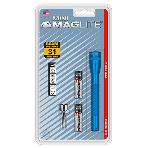 MagLite M3A116 Mini Incandescent 2-Cell AAA Flashlight, Blue