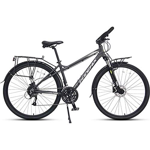 Xiaoyue 27 Speed Rennrad, Männer Frauen 700C Räder Straßen-Fahrrad, Aluminiumrahmen Pendler Fahrrad, ideal for unterwegs oder Dirt Trail Touring, Männer Grau lalay (Color : Women's Blue)