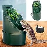 爬虫類飲料水フィルター、自動給水飲用具飲料水噴水トカゲカメレオン両生類180 * 125 Mm