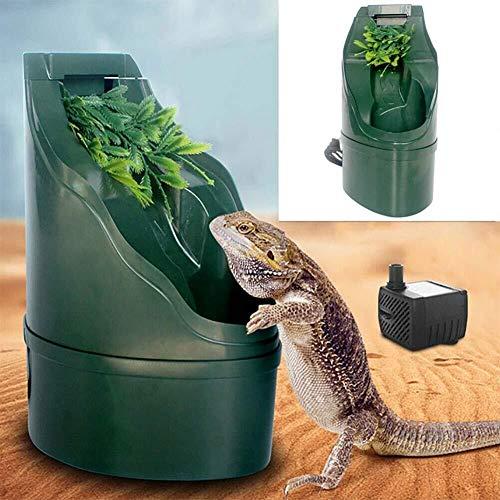 E-F-B Filtro De Agua Potable For Reptiles, Herramienta De Alimentación Automática For Bebederos Fuente De Agua Potable Lagarto Camaleón Anfibio 180 * 125 Mm