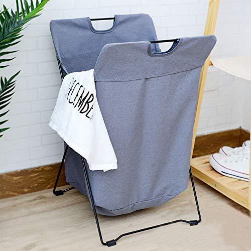 TOBY Vêtements Sales Panier à Linge, avec poignée Respirabilité Se Pliant Panier de Rangement Un Transport aisé pour la Maison Dortoir de collège-B 38x37x73cm(15x15x29inch)