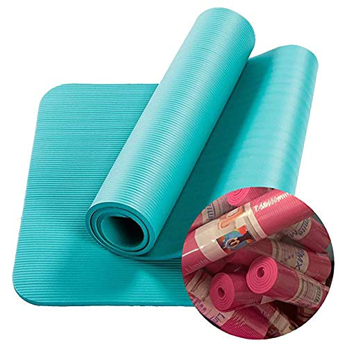 Tappetino antiscivolo per yoga, a righe, 182,9 x 61 x 1 cm