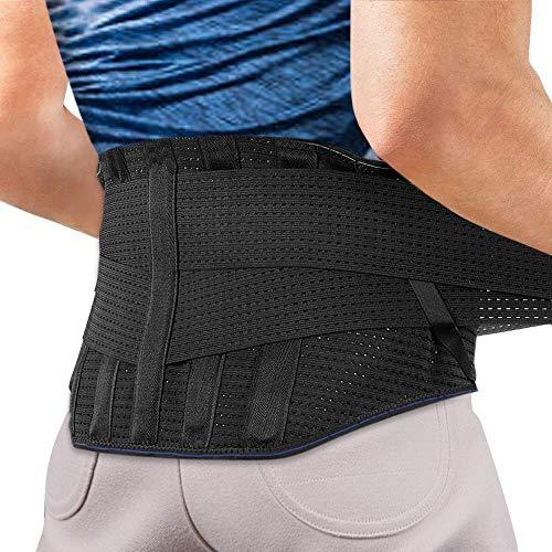 Faja Lumbar para Espalda, AGPTEK Cinturón de Soporte Lumbar Ayuda a Aliviar Dolor y...