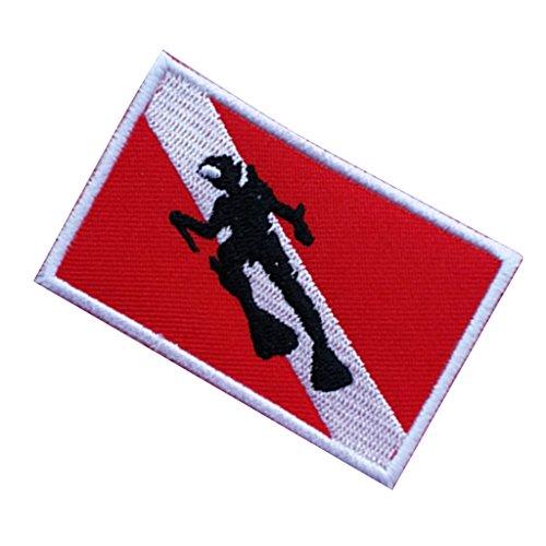 MagiDeal 1 Pedazo de Parche En Forma de Bandera Accesorio de Deportes de Reparacion Buceo de Poliester