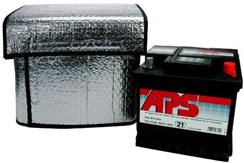 Cartrend 96144 Thermo-Batteriehülle, Größe ca. 115 x 74 cm für 32-45 Ah geeignet, hält Starterbatterien bei tiefsten Temperaturen funktionsfähig