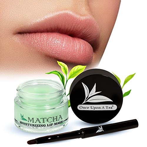 Moisturizing Green Tea Matcha Sleeping Lip Mask Balm, Younger Looking Lips Overnight, Best Solution For Chapped And Cracked Lips, Unique Lip Gloss Formula And Power Benefits Of Green Tea (Matcha)