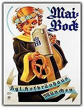 PotteLove Maibock Beer German Metal Sign Wall Plaque Vintage Retro Advert Decor