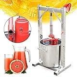 DiLiBee torchio per Il Vino da 12 Litri Spremiagrumi per UVA e Sidro Spremiagrumi Pressa per la Produzione di Vino Frullatore per Frutta