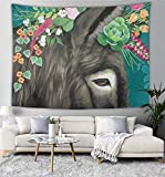 Janeeyre27 Tapiz de pared psicodélico para colgar en la pared, tapiz bohemio mandala hippie para dormitorio, sala de estar, dormitorio o burro, 152 x 101 cm