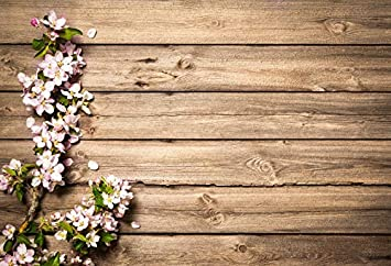 9x6ft Valentines Day Backdrop Countryside Shabby Rustic Wood Plank Wood Texture Lilac Blossom Purple Nature Flowers Background Children Baby Adults Portraits Backdrop