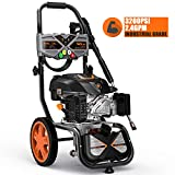 TACKLIFE Gas Powered Pressure Washer 3200 PSI, 2.4 GPM, 6.5 HP, Soap Tank, Five Nozzle Set, Muti-Use for Cleaning Car, Patio, Wall, Furniture, CARB Compliant, GSH01B