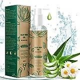 Gel de Aloe Vera con Manzanilla, 100% Natural Aloe Vera Crema para Hidratante para Pelo y Piel...