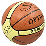Lusum Optio - Balón de baloncesto para interiores y exteriores, piel sintética, tamaño 5