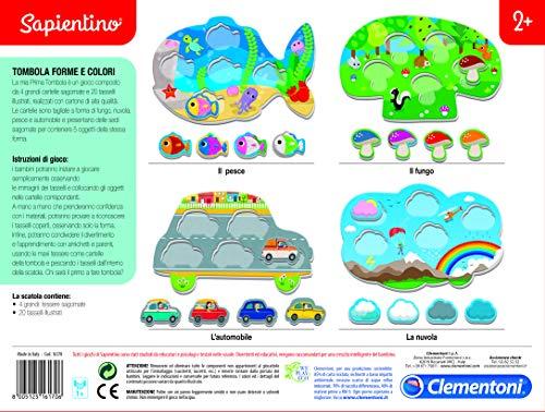 Clementoni -16170 - Juego Educativo de Aprendizaje con Forma y Colores, Multicolor, 16170