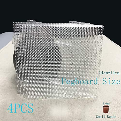 4PCS 2.6mm Mini Hama funde granos transparente cuadrado de los granos grandes tableros Juntas Material de juguete Plantilla