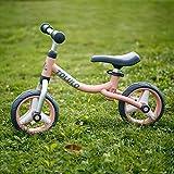 JHHXW Bicicletas de equilibrio para niños, mini bicicletas correderas sin pedales, ruedas de PU sólidas no inflables, bicicleta liviana para niños pequeños con asiento ajustable, 1-3 años de edad, niñ