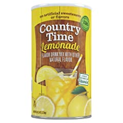 Country Time Lemonade Drink Mix 82.5 oz Can (Pack of 2, Total of 165 Oz) Makes 68 quarts 100% Daily Value Vitamin C Kosher