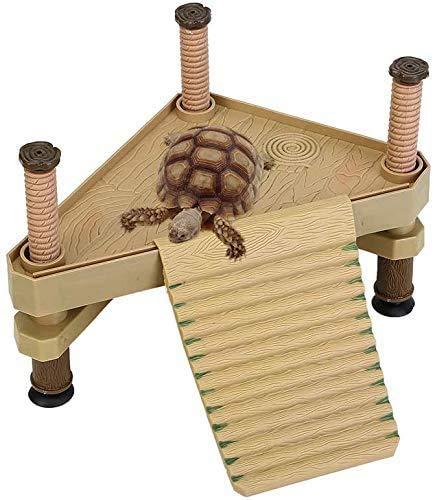YANGWX - Plataforma flotante con tortuga y escalera de reptiles basking – Plataforma de tortuga, accesorio para acuario, gran tortuga Pier para un uso dentro y fuera del agua