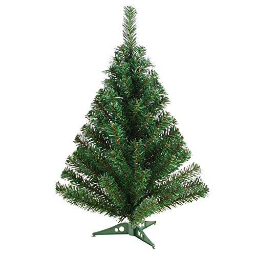 DP-Tech 60 cm 60 Spitzen künstlicher Weihnachtsbaum Tannenbaum Christbaum in grün inkl. Kunststofffuß Christbaumständer