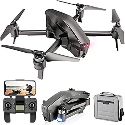 4DRC M1 Foldable GPS Drone with 5G Transmission WiFi 4K FHD Camera for Adults, Quadcopter with Brushless Motor, Auto Return Home, Follow Me, 30 Minutes Flight Time, 1600M Control Range, Black from 4drc