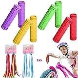 YWQ 4 UNIDS Cubierta de Mango Grips de Gomade Bicicleta,Cubierta de Bicicleta Mango Bar Grips,Plástico Antideslizante Kids Scooter Manillar Hornear,Puños Manillar Bicicleta para Accesorios