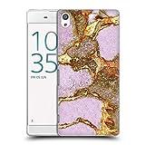 Head Case Designs Licenciado Oficialmente Monika Strigel Rosa Piedras Preciosas Y Oro Carcasa rígida Compatible con Sony Xperia XA Ultra/Dual