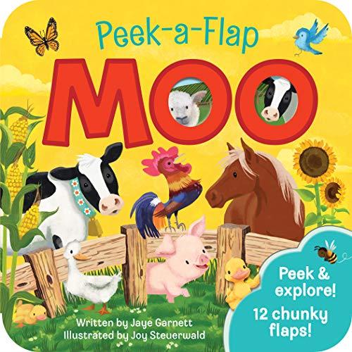 Moo Peek a Flap Children's Board Book (Peek a Boo Animal Fun Children's...