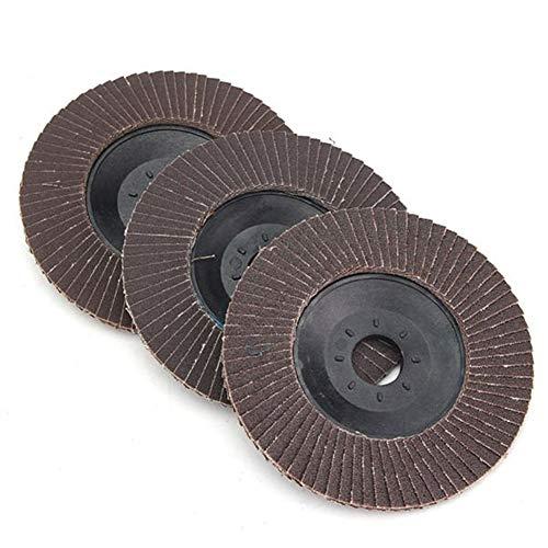 Rotary Accessori Strumento Disco 120/240/320 Grit Abrasive Wheels angolo mola smerigliatrice Flap di levigatura 100 millimetri (Size : 120#)