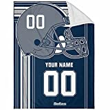Dallas Plush Throw Blanket Custom Any Name and Number for Men Women Youth Gifts