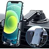 【2021 車載ホルダー VANMASS スマホホルダー 2in1 粘着ゲル吸盤&エアコン吹き出し口式兼用 安定性 360度回転 ワンタッチ 携帯ホルダー カー用品 エアコン 日本語取扱説明書 厚いケース/手帳型ケース対応 4-7インチ全機種対応 iPhone/Sony/Samsung/Oneplusなど機種対応(グレー)