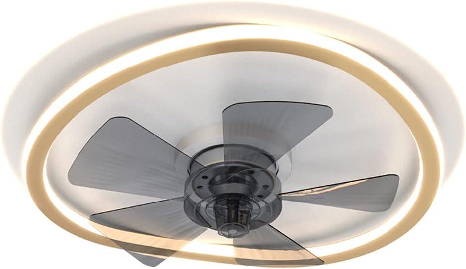 OMGPFR Ventilador de Techo Moderna con Luz Lámpara LED, y Control Remoto Regulable 6 Luces de Velocidad del Viento Ajustables Iluminación de Ventiladores de Techo silenciosos Pequeño