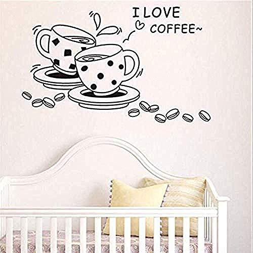 Wandaufkleber Und Wandbilder Ich Mag Die Kaffee Ameise Wandhalterung Abnehmbare Süße Kaffeetasse Wandaufkleber Küche Vinyl Wandaufkleber Dekor 40X42Cm