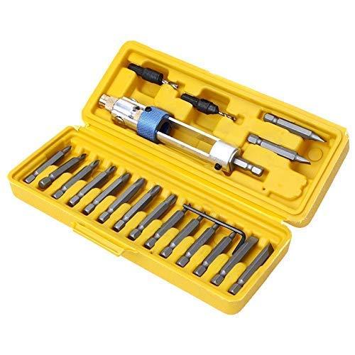 Uteruik Schroevendraaier Tool Set - Craftsman Tools Schroevendraaier Half Tijd Boor Driver Multi Schroevendraaier Sets 16 Verschillende Soorten Hoofd, 20 stks