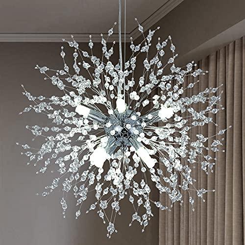 Illuminazione moderna del lampadario a sospensione del fuoco d'artificio, 8 luci Lampade Decorazione domestica per interni Luce per soggiorno Camera da letto Corridoio Cucina Sala da pranzo