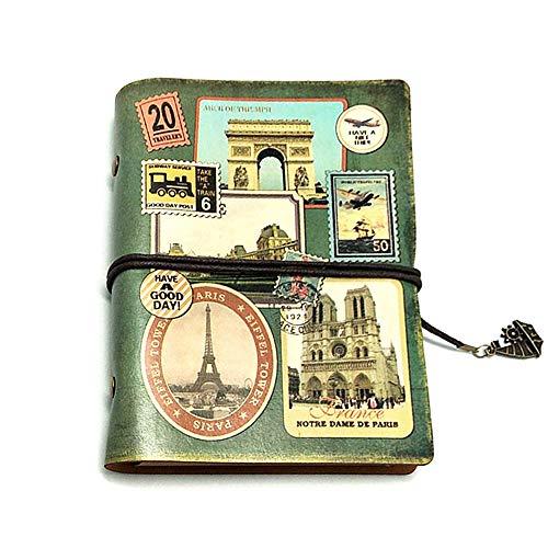 Cuaderno vintage de piel de kuaetily, bonito diario de viaje, diario de...