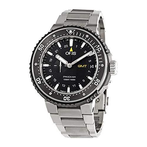 Oris ProDiver GMT orologio automatico da uomo in acciaio con quadrante nero...